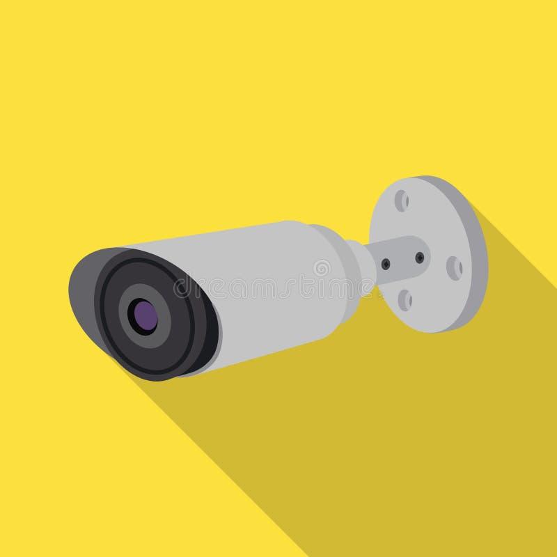 Illustration de vecteur de signe de télévision en circuit fermé et d'appareil-photo Ensemble de télévision en circuit fermé et de illustration stock