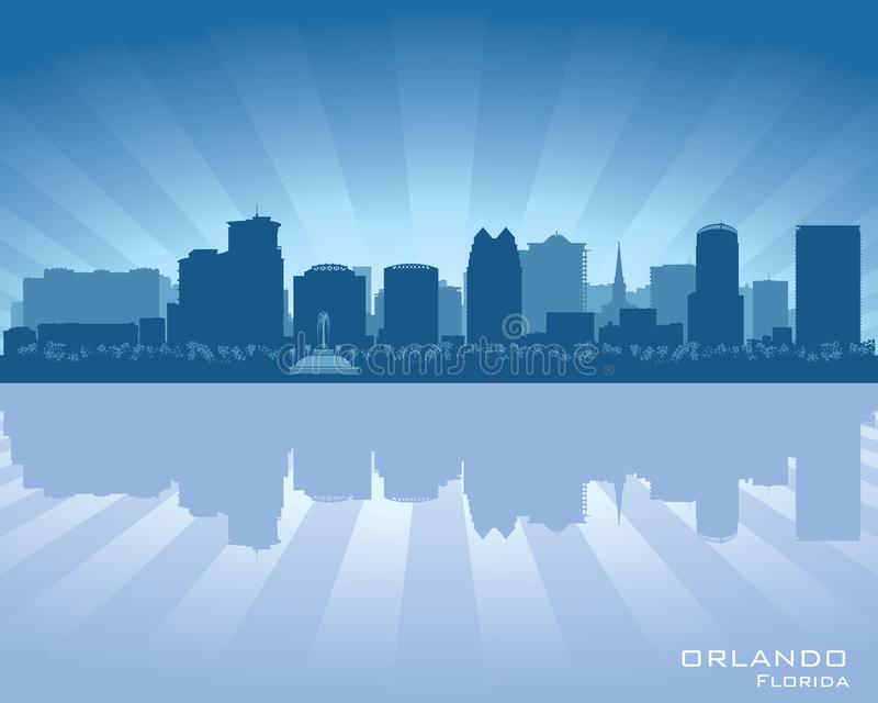 Illustration de vecteur de silhouette de ville d'horizon d'Orlando, la Floride illustration stock