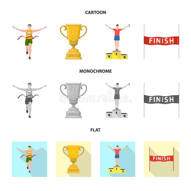Illustration de vecteur de sport et d'ic?ne de gagnant Collection d'ic?ne de vecteur de sport et de forme physique pour des actio illustration libre de droits