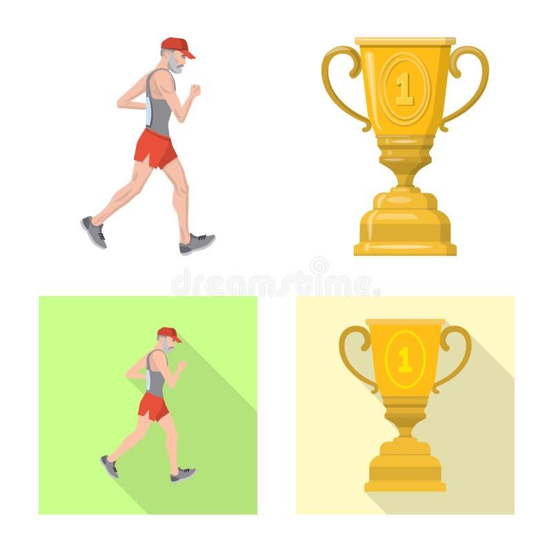 Illustration de vecteur de sport et de logo de gagnant Placez de l'illustration courante de vecteur de sport et de forme physique illustration libre de droits