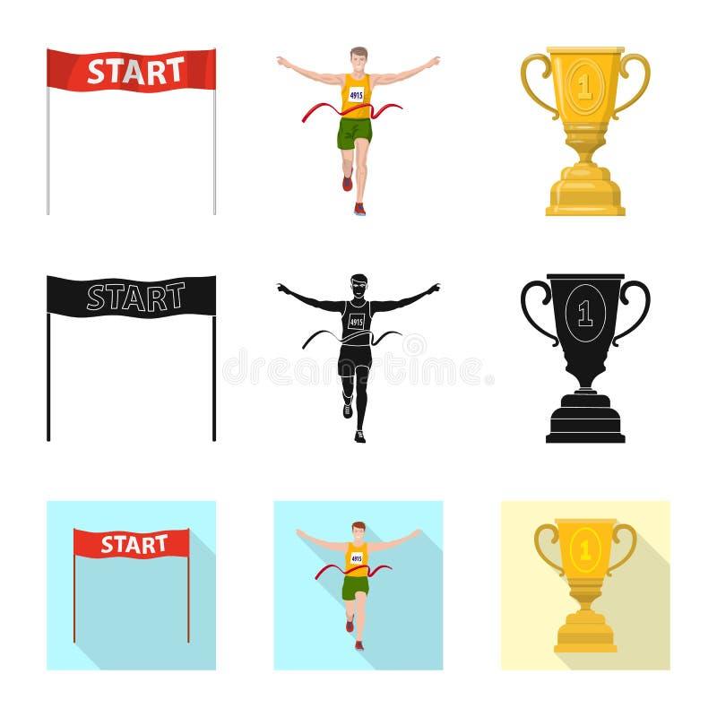 Illustration de vecteur de sport et de logo de gagnant Placez de l'ic?ne de vecteur de sport et de forme physique pour des action illustration libre de droits