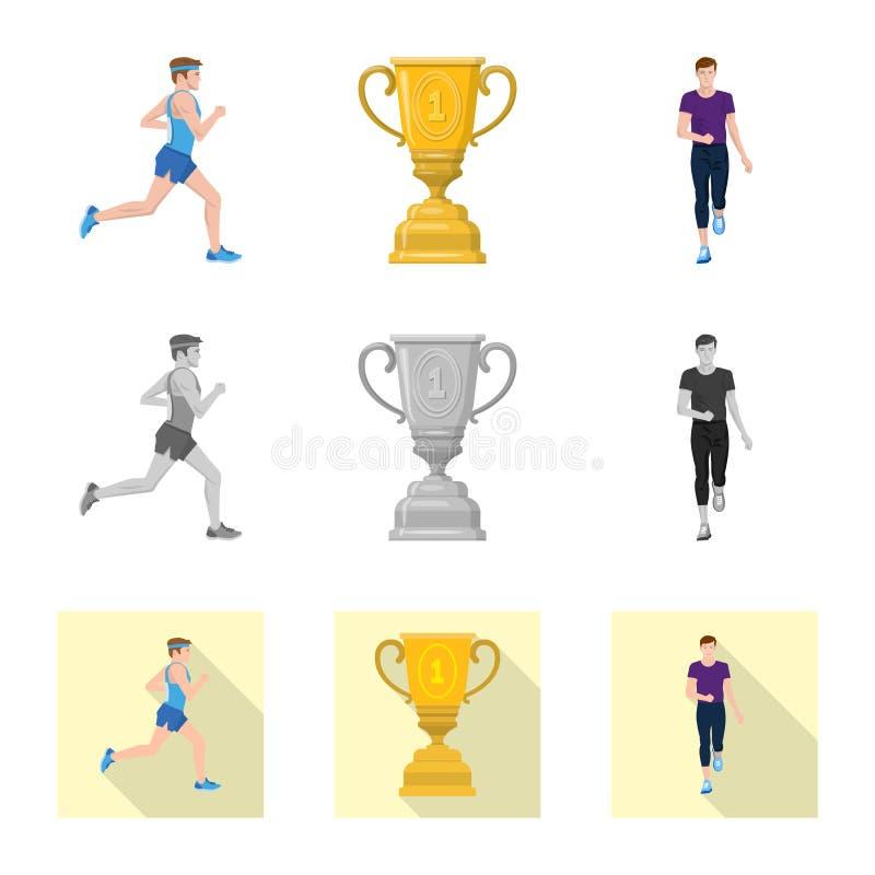 Illustration de vecteur de sport et de logo de gagnant Placez de l'ic?ne de vecteur de sport et de forme physique pour des action illustration stock