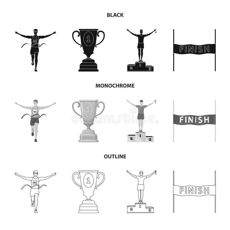 Illustration de vecteur de sport et de signe de gagnant Collection d'ic?ne de vecteur de sport et de forme physique pour des acti illustration libre de droits