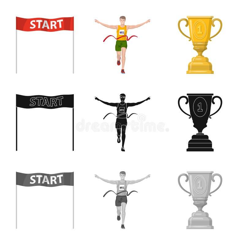 Illustration de vecteur de sport et de signe de gagnant Collection d'ic?ne de vecteur de sport et de forme physique pour des acti illustration stock