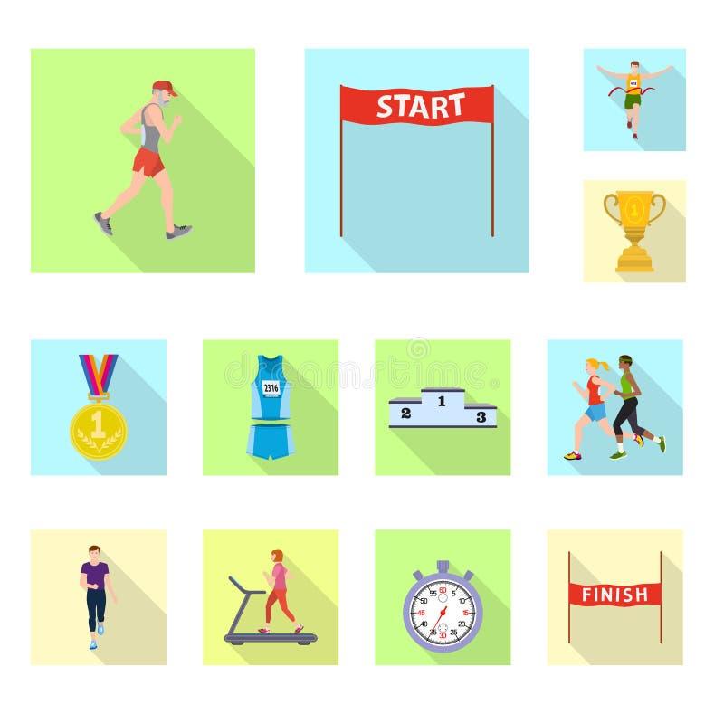 Illustration de vecteur de sport et de signe de gagnant Collection de l'illustration courante de vecteur de sport et de forme phy illustration stock