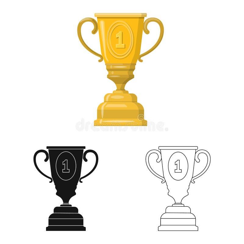 Illustration de vecteur de sport et de signe de gagnant Placez de l'ic?ne de vecteur de sport et de forme physique pour des actio illustration libre de droits