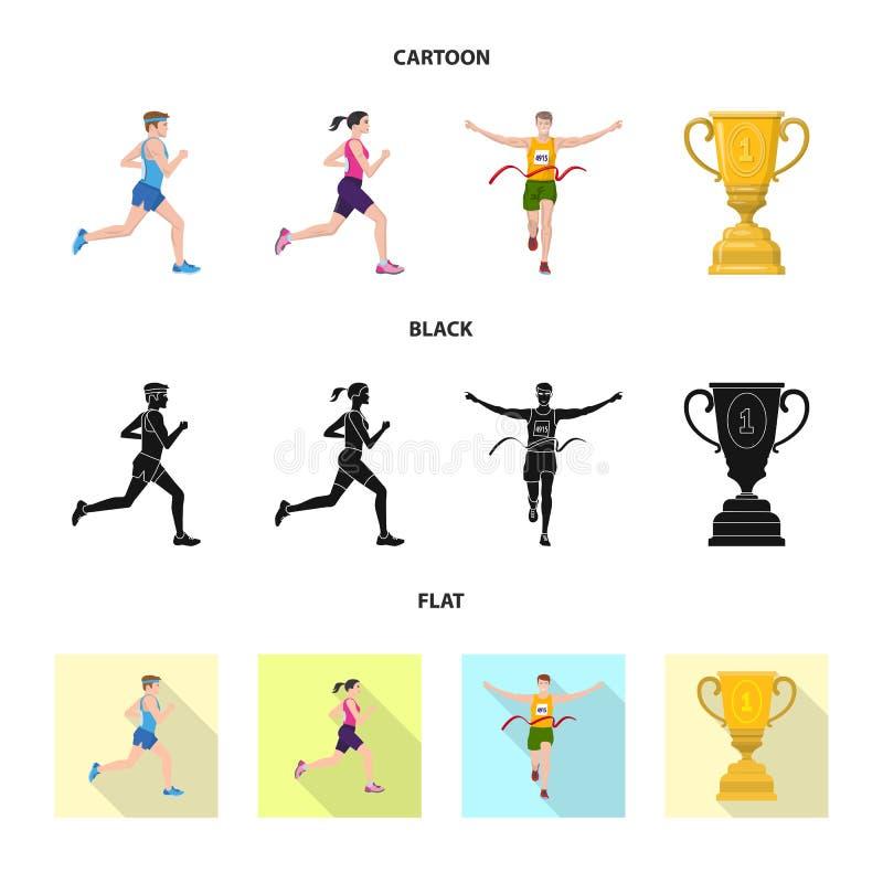 Illustration de vecteur de sport et de signe de gagnant Placez de l'ic?ne de vecteur de sport et de forme physique pour des actio illustration stock