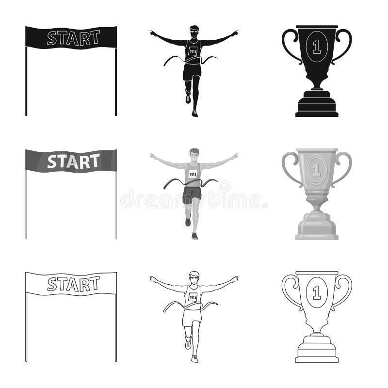 Illustration de vecteur de sport et de symbole de gagnant Collection de l'illustration courante de vecteur de sport et de forme p illustration de vecteur