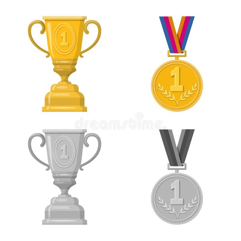 Illustration de vecteur de sport et de symbole de gagnant Collection de l'illustration courante de vecteur de sport et de forme p illustration stock