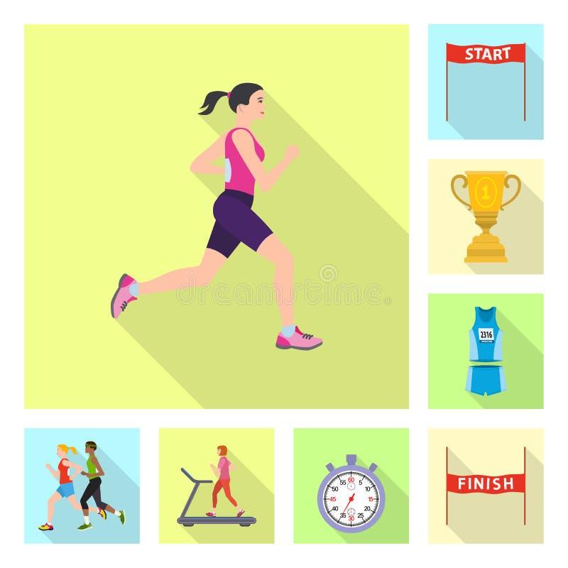 Illustration de vecteur de sport et de symbole de gagnant Placez du symbole boursier de sport et de forme physique pour le Web illustration libre de droits