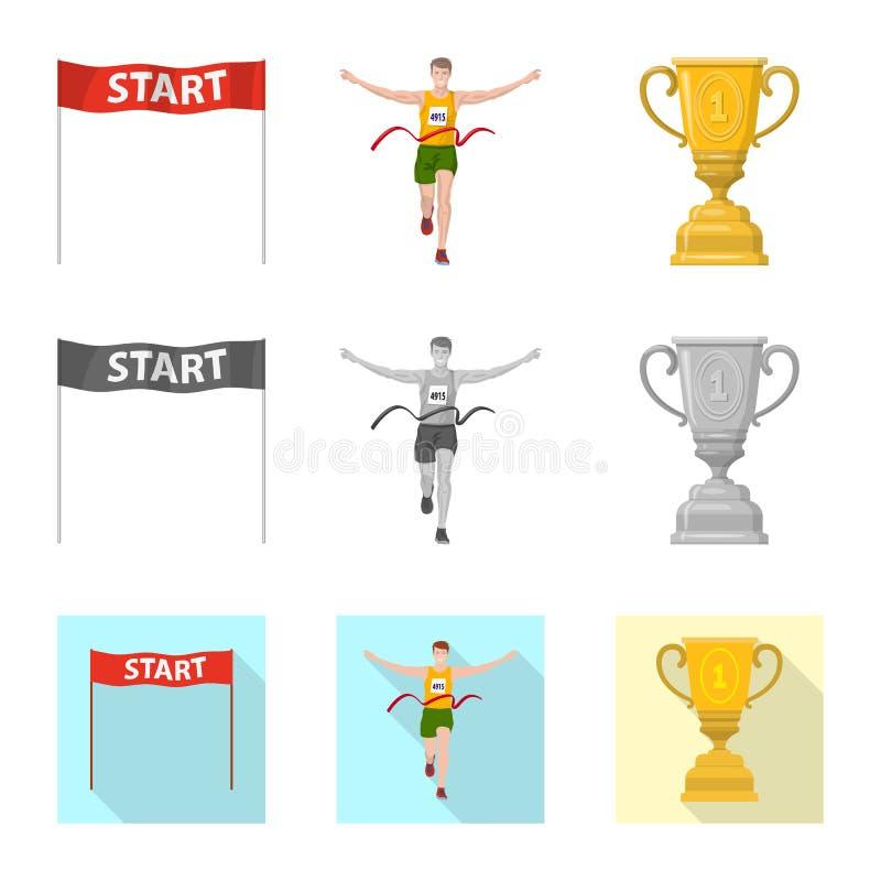 Illustration de vecteur de sport et de symbole de gagnant Placez de l'illustration courante de vecteur de sport et de forme physi illustration stock