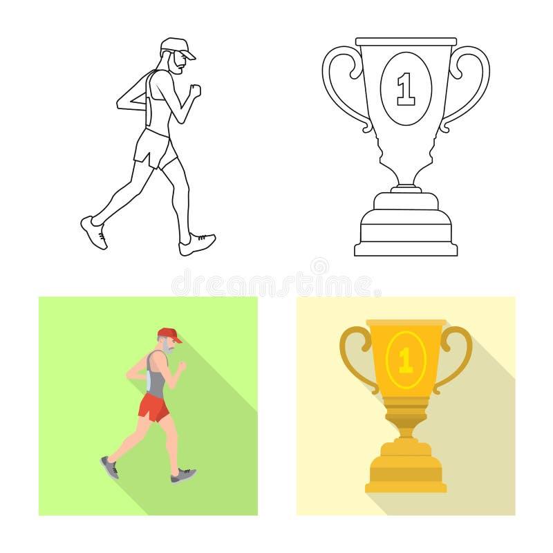 Illustration de vecteur de sport et de symbole de gagnant Placez de l'illustration courante de vecteur de sport et de forme physi illustration libre de droits