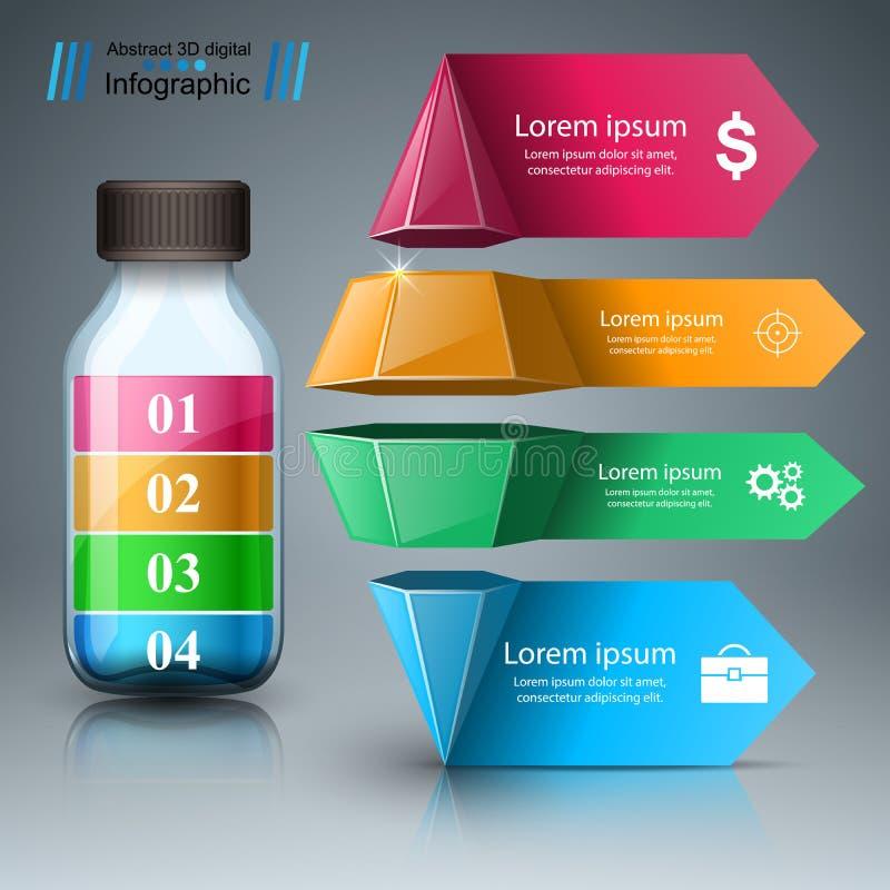 Illustration de vecteur de style d'origami d'Infographics d'affaires Infogr illustration libre de droits