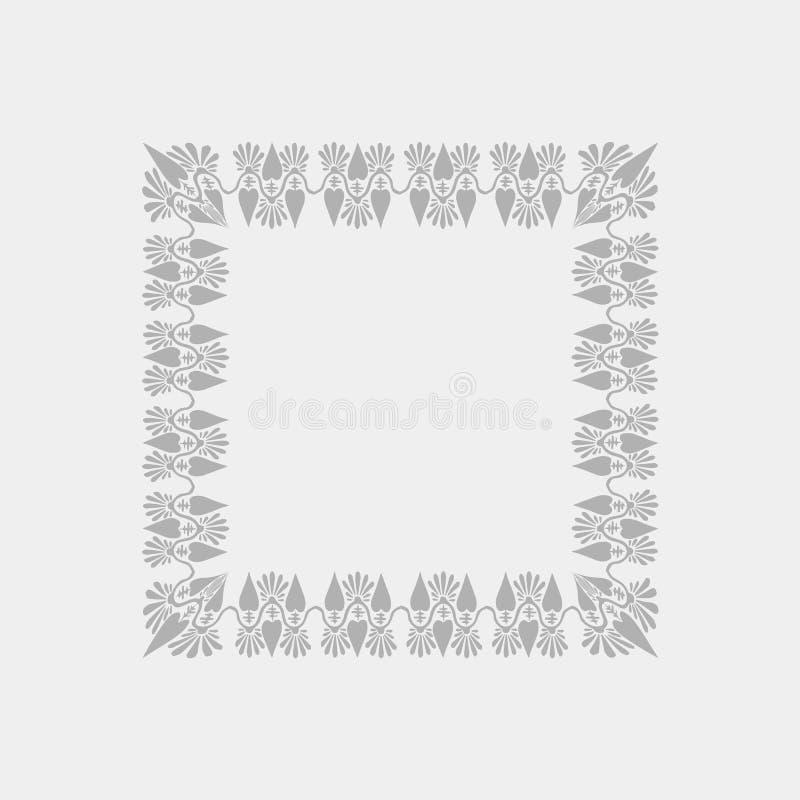 Illustration de vecteur style floral carr? gris d'Art Nouveau de vue illustration stock
