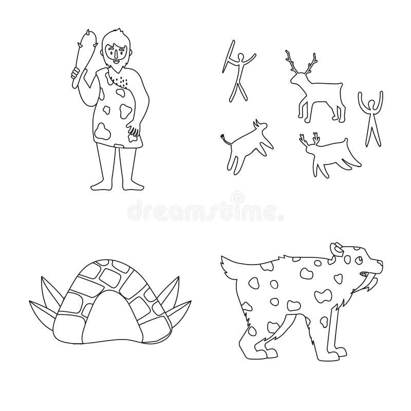 Illustration de vecteur de symbole antique et primitif Placez du symbole boursier antique et d'ère pour le Web illustration libre de droits