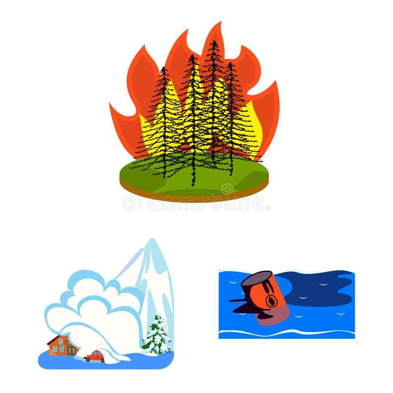 Illustration de vecteur de symbole de cataclysme et de catastrophe Placez de l'ic?ne de vecteur de cataclysme et d'apocalypse pou illustration de vecteur