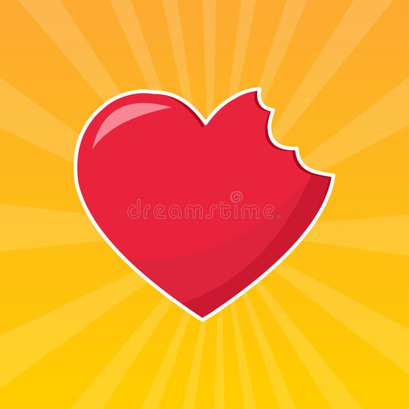 Illustration de vecteur de symbole de concept de mal d'amour illustration libre de droits