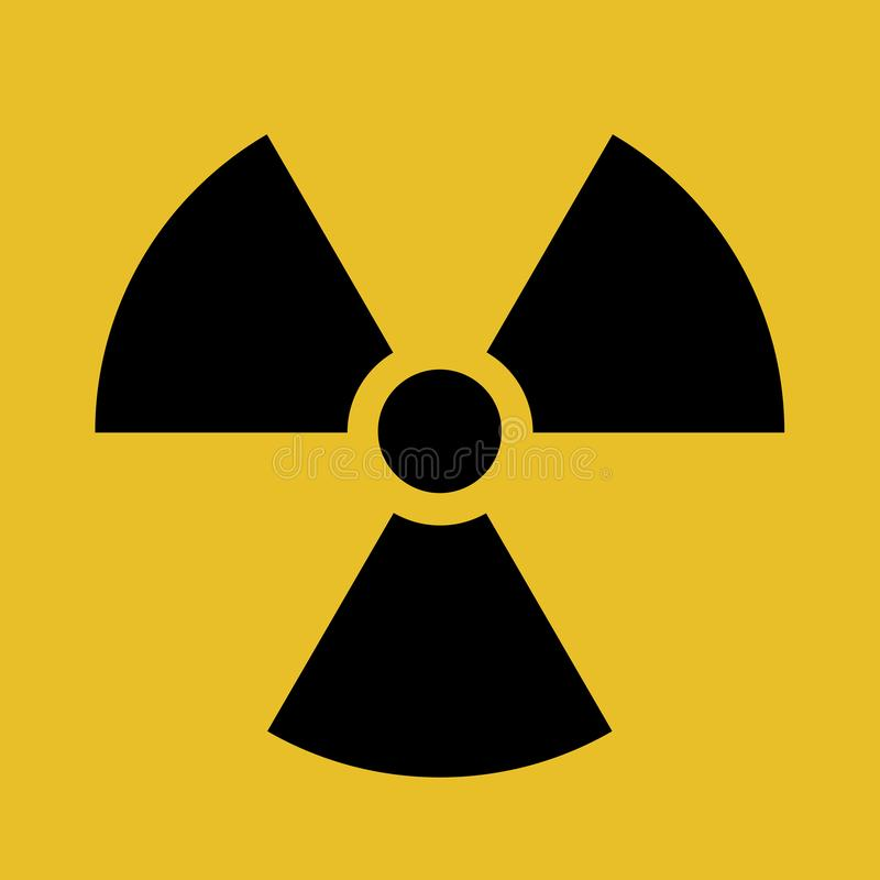 Illustration de vecteur de symbole de contamination radioactive illustration stock