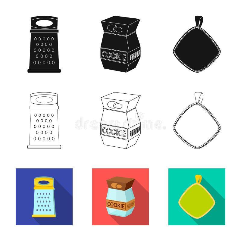 Illustration de vecteur de symbole de cuisine et de cuisinier Ensemble de symbole boursier de cuisine et d'appareils pour le Web illustration de vecteur