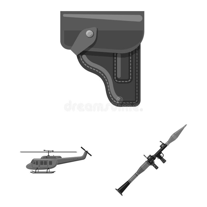 Illustration de vecteur de symbole d'arme et d'arme à feu Collection de l'illustration courante de vecteur d'arme et d'armée illustration libre de droits