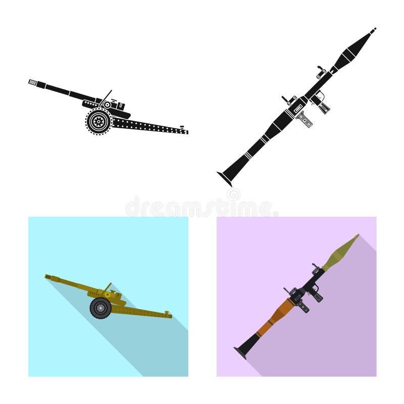 Illustration de vecteur de symbole d'arme et d'arme à feu Ensemble de symbole boursier d'arme et d'armée pour le Web illustration stock