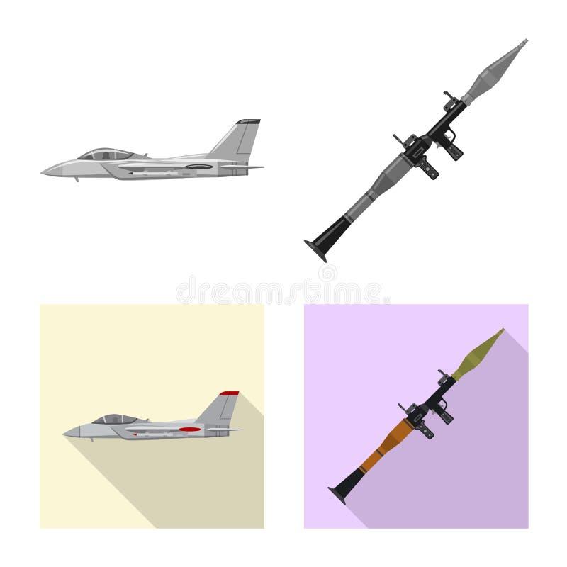 Illustration de vecteur de symbole d'arme et d'arme à feu Ensemble d'icône de vecteur d'arme et d'armée pour des actions illustration libre de droits