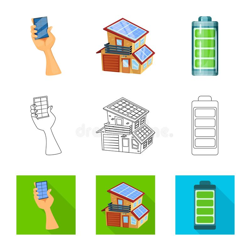 Illustration de vecteur de symbole d'innovation et de technologie Collection d'ic?ne de vecteur d'innovation et de nature pour de illustration stock