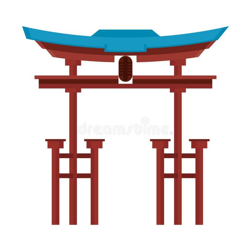 Illustration de vecteur de symbole d'isolement par monument d'entrée de la Chine illustration de vecteur