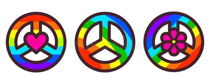 Illustration de vecteur de symbole de paix illustration libre de droits