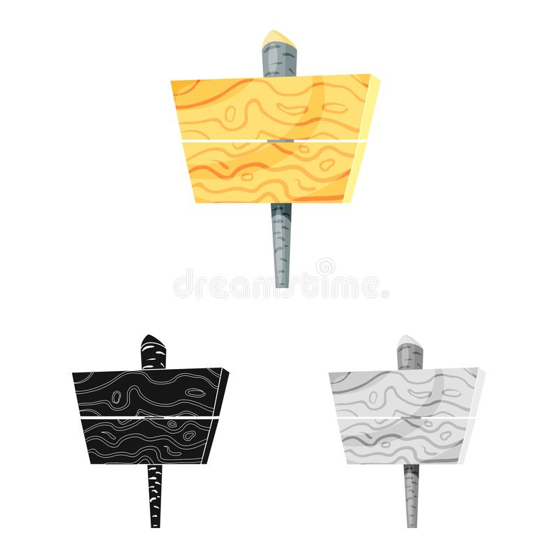 Illustration de vecteur de symbole de panneau d'affichage et de route Collection d'illustration de vecteur d'actions de panneau d illustration stock