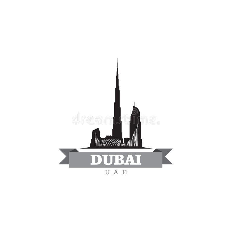 Illustration de vecteur de symbole de ville de Dubaï EAU illustration de vecteur