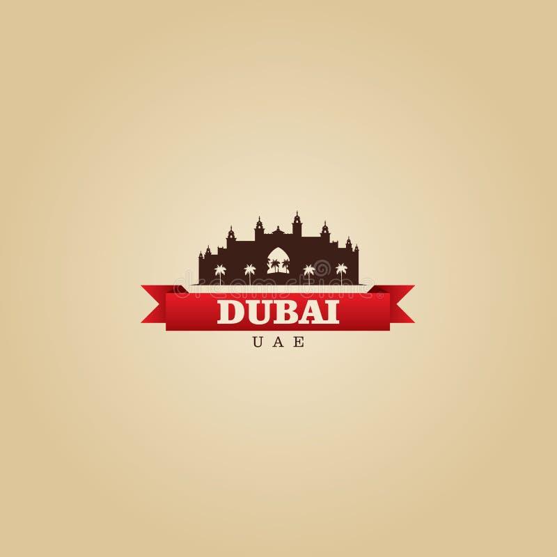 Illustration de vecteur de symbole de ville de Dubaï EAU illustration stock