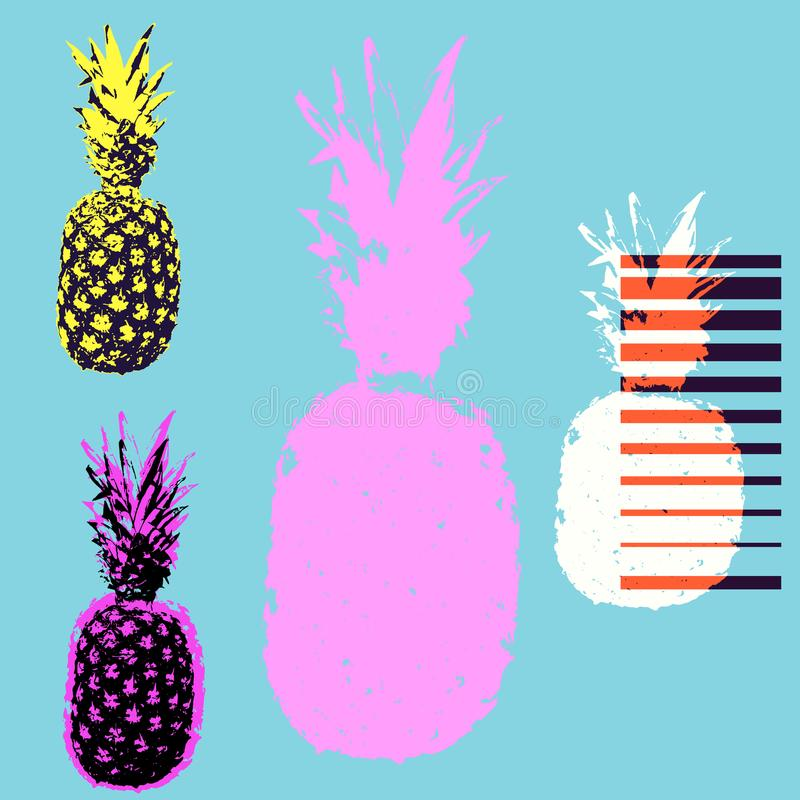 Illustration de vecteur de T-shirt d'ananas illustration libre de droits