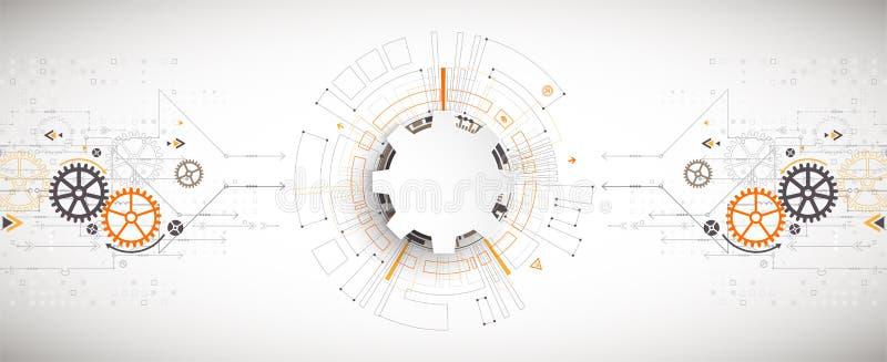 Illustration de vecteur, technologie numérique de pointe et ingénierie illustration libre de droits