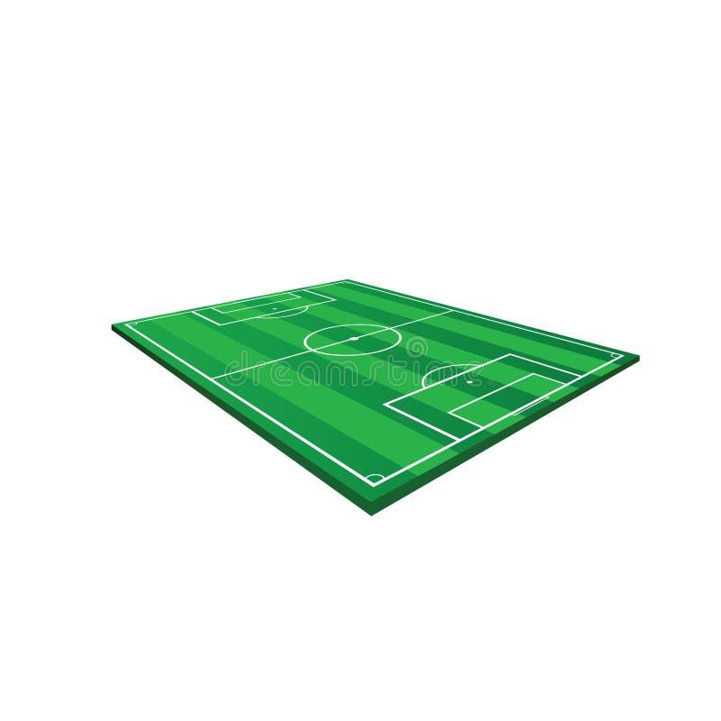 Illustration de vecteur de terrain de jeu du football illustration de vecteur