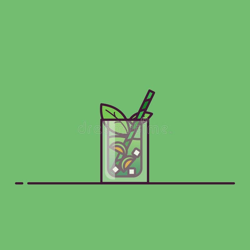 Illustration de vecteur de thé de glace illustration libre de droits
