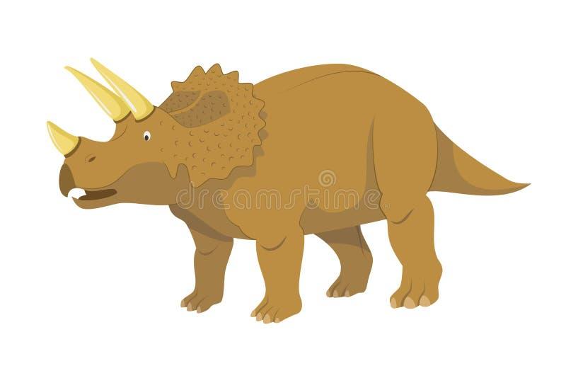 Illustration de vecteur de Triceratops d'isolement à l'arrière-plan blanc illustration libre de droits