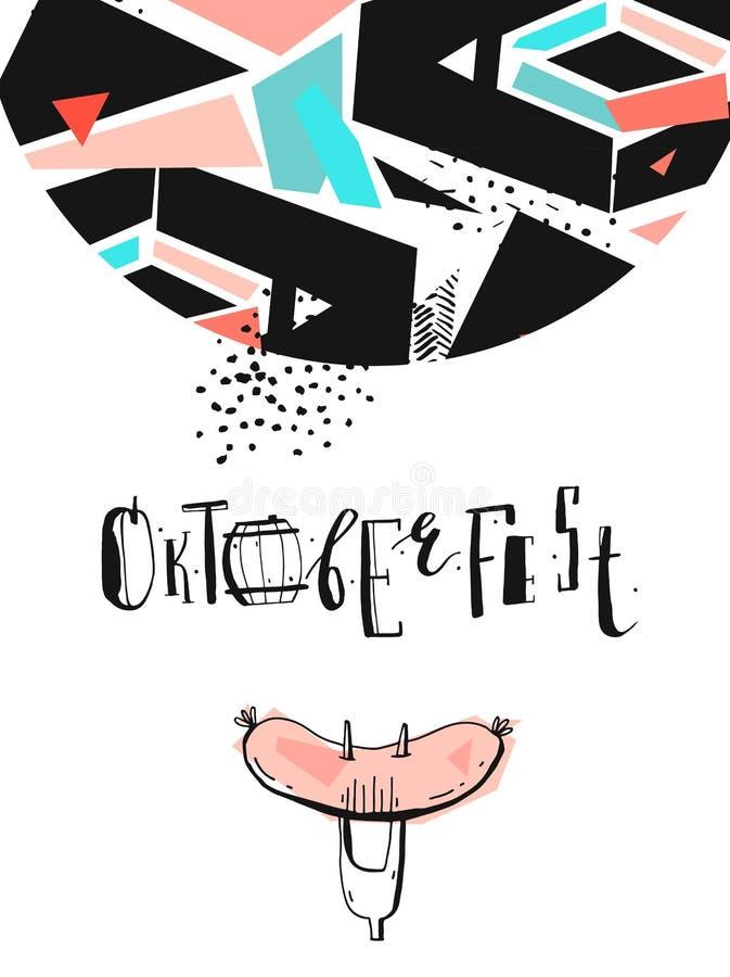 Illustration de vecteur de vacances d'Octoberfest illustration libre de droits