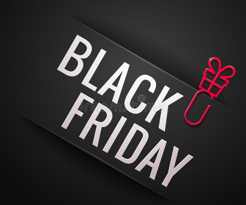 Illustration de vecteur de vente de Black Friday illustration stock