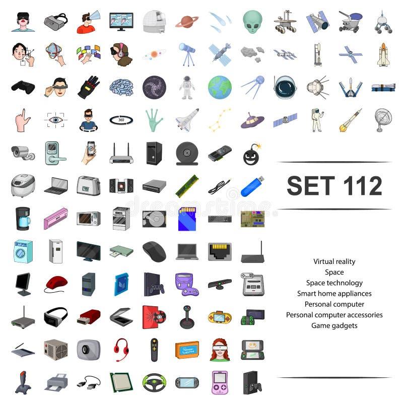 Illustration de vecteur de virtuel, réalité, l'espace, technologie, instrument accessoire d'ordinateur personnel intelligent de j illustration stock