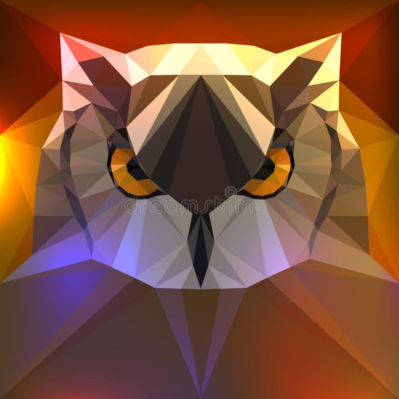 Illustration de vecteur - visage d'un hibou illustration de vecteur
