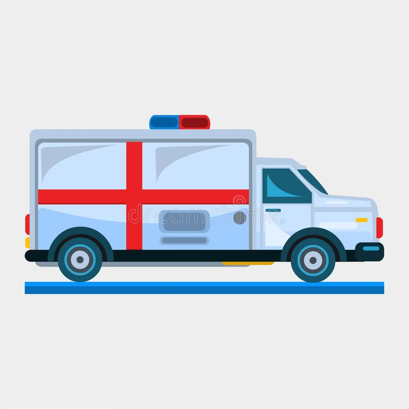 Illustration de vecteur de voiture d'ambulance illustration stock