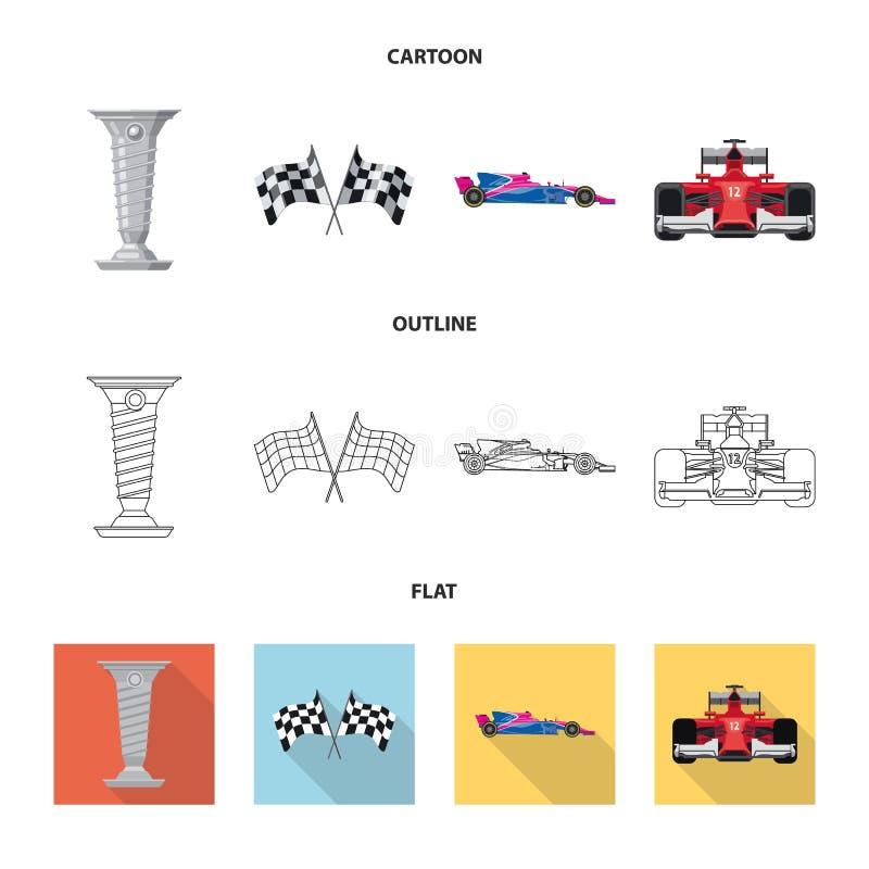 Illustration de vecteur de voiture et de logo de rassemblement Collection d'icône de vecteur de voiture et de course pour des act illustration de vecteur