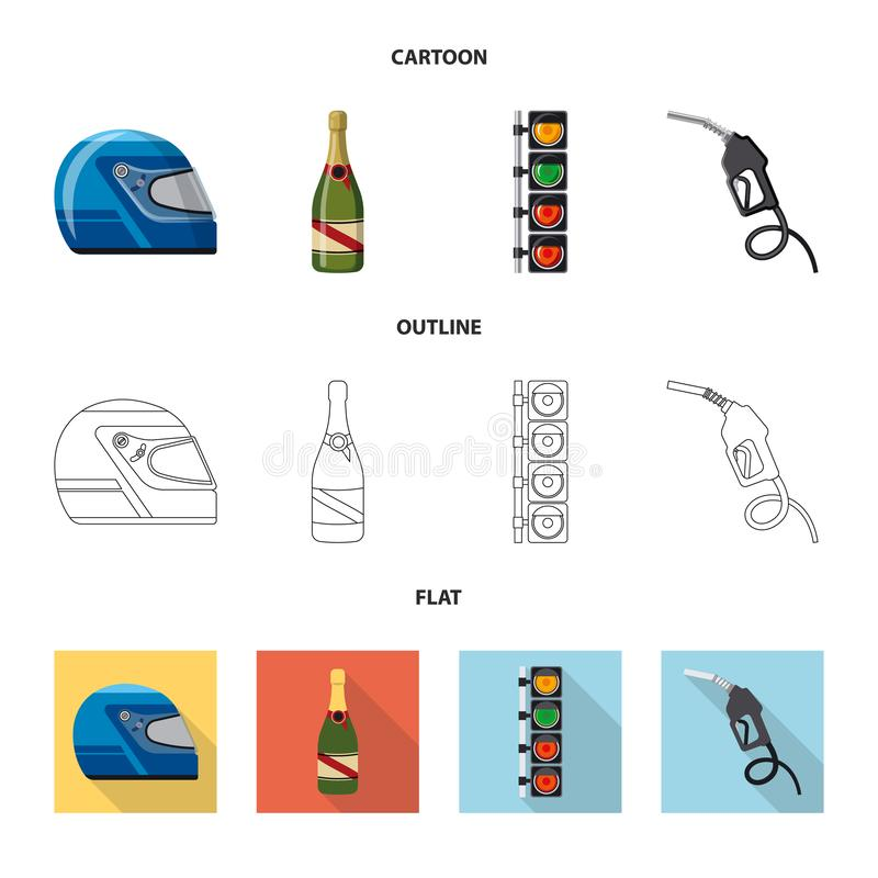 Illustration de vecteur de voiture et de logo de rassemblement Collection de symbole boursier de voiture et de course pour le Web illustration libre de droits