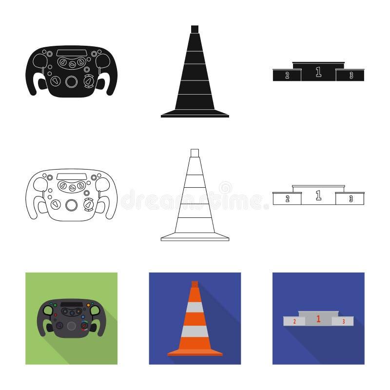Illustration de vecteur de voiture et de logo de rassemblement Ensemble d'icône de vecteur de voiture et de course pour des actio illustration de vecteur