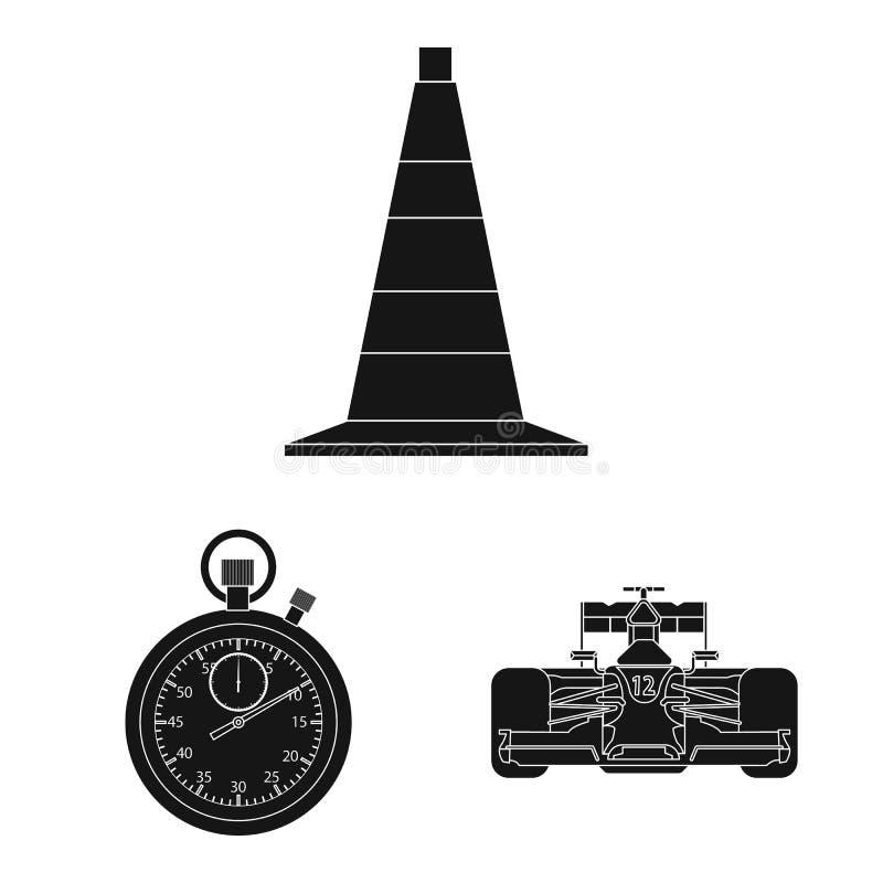 Illustration de vecteur de voiture et de signe de rassemblement Ensemble d'ic?ne de vecteur de voiture et de course pour des acti illustration de vecteur