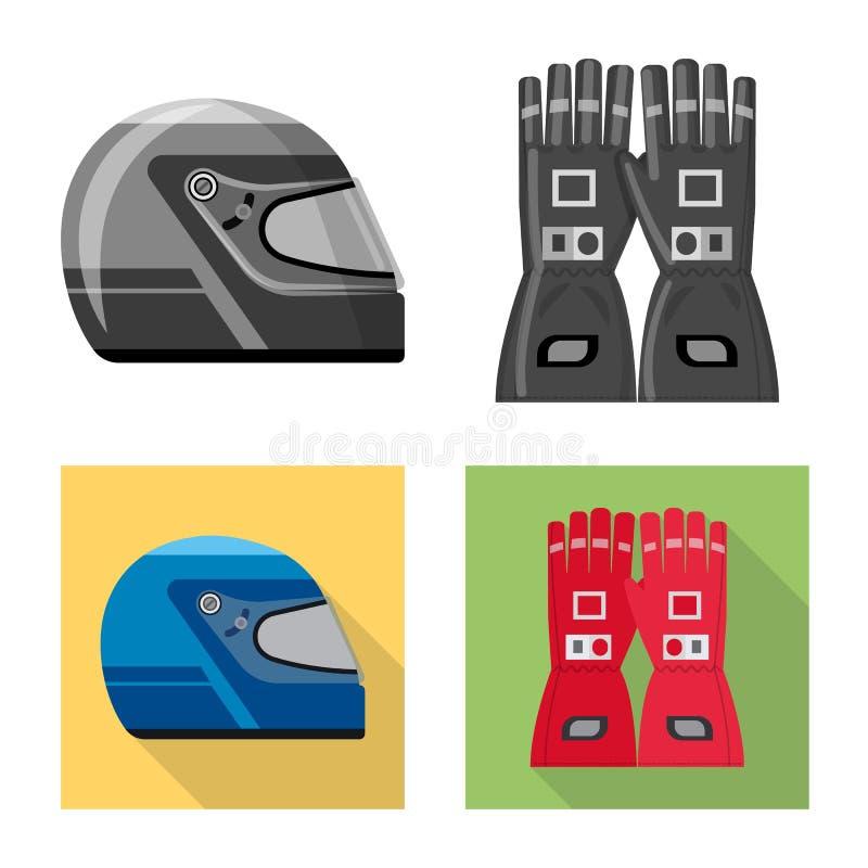 Illustration de vecteur de voiture et de signe de rassemblement Ensemble de symbole boursier de voiture et de course pour le Web illustration stock