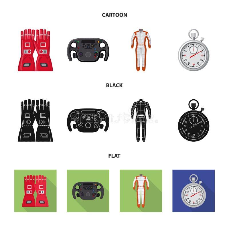 Illustration de vecteur de voiture et de signe de rassemblement Ensemble de symbole boursier de voiture et de course pour le Web illustration libre de droits