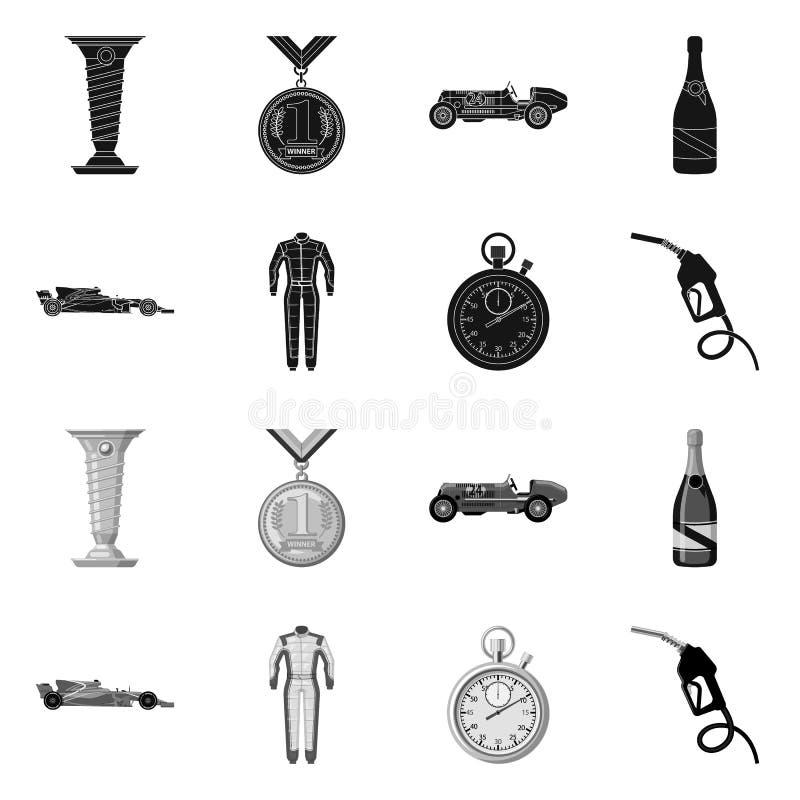 Illustration de vecteur de voiture et de symbole de rassemblement Collection de l'illustration courante de vecteur de voiture et  illustration stock