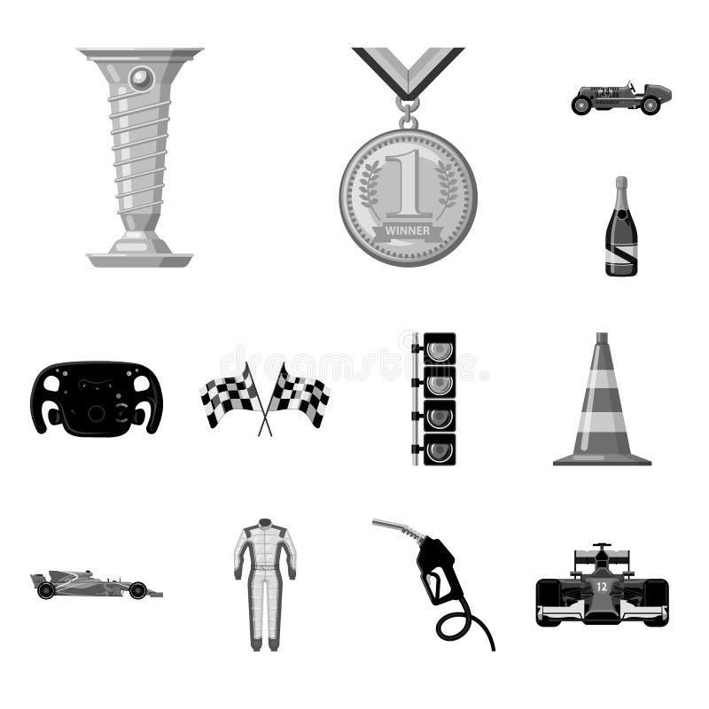 Illustration de vecteur de voiture et de symbole de rassemblement Ensemble d'illustration courante de vecteur de voiture et de co illustration stock